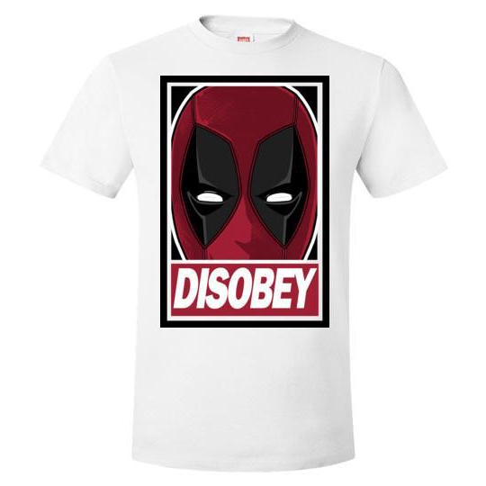 Deadpool Disobey White T-Shirt