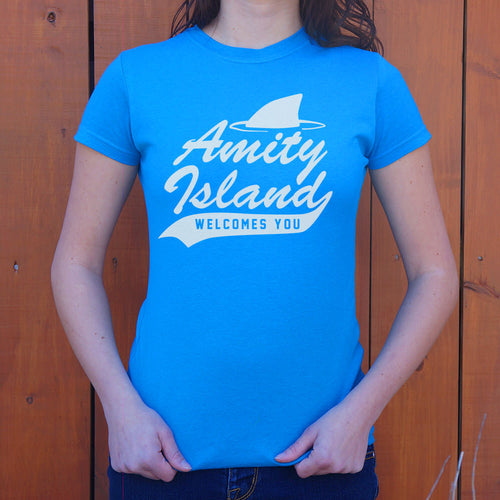 Ladies Amity Island Welcomes You T-Shirt