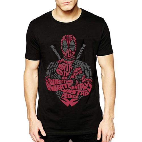 Deadpool Portrait Typography Tee