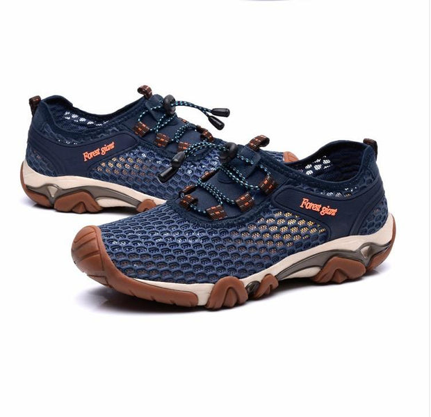 Men's Comfortable Breathable Mesh Outdoor Recreational Traceable Sneakers Shoes