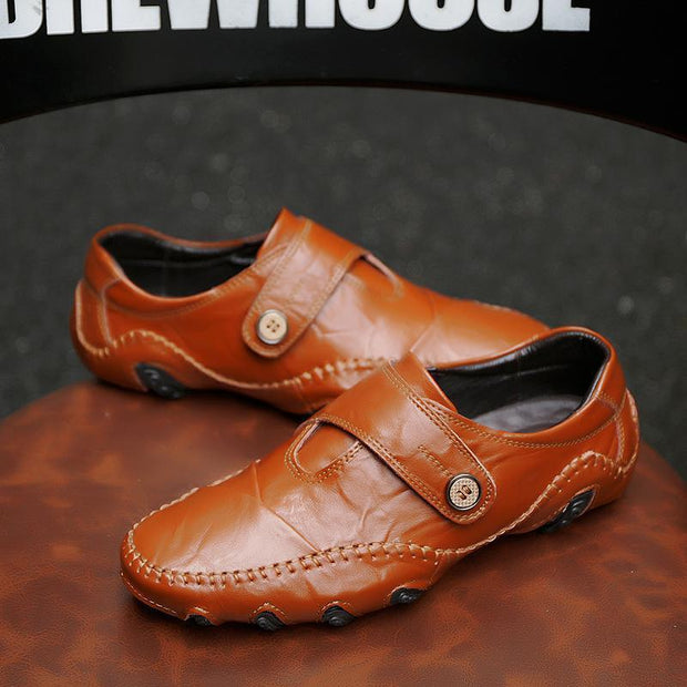 Men Loafers Genuine Leather Slip on Designer Shoes