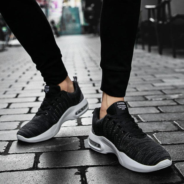 Men's Sports and Leisure Air Cushion Flying Woven Sneakers