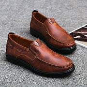 Men Large Size Retro Color Soft Sole Casual Driving Shoes