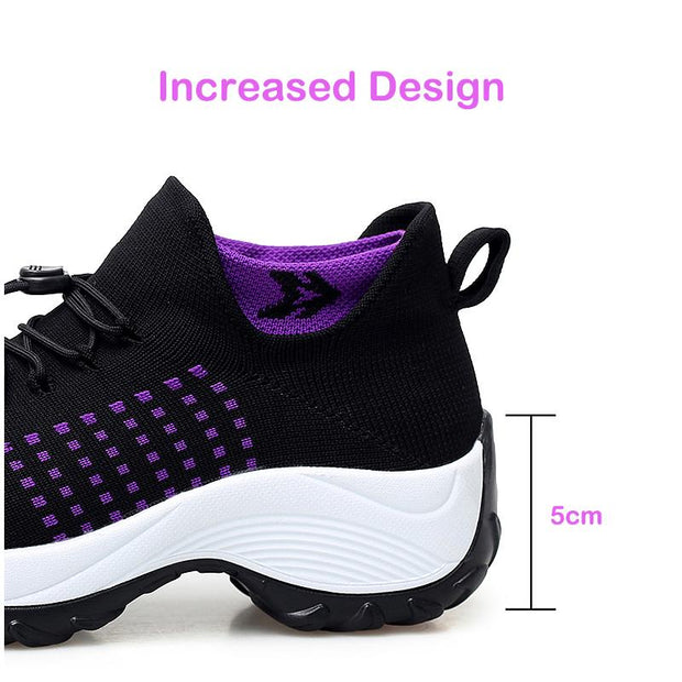 Women's Comfortable Flying Woven Increased Heel Sneakers(Second -30% by code:BTS30)