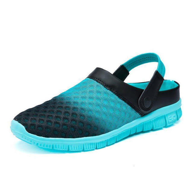 Men's Gradient Mesh Sandals Slippers Clogs