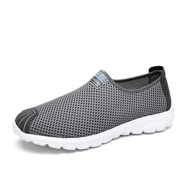 Men's Casual Breathable Knit Mesh Light Walking Sneakers