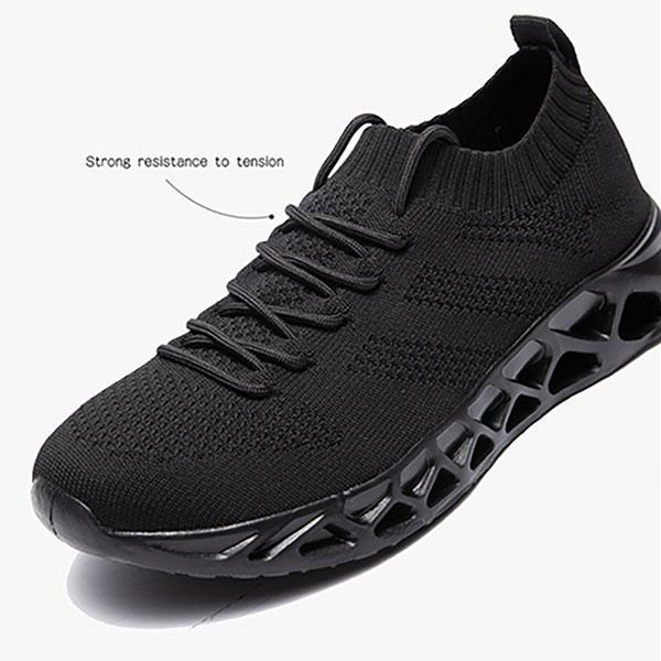 Men's Hollow Bottom Breathable Flying Woven Sneakers