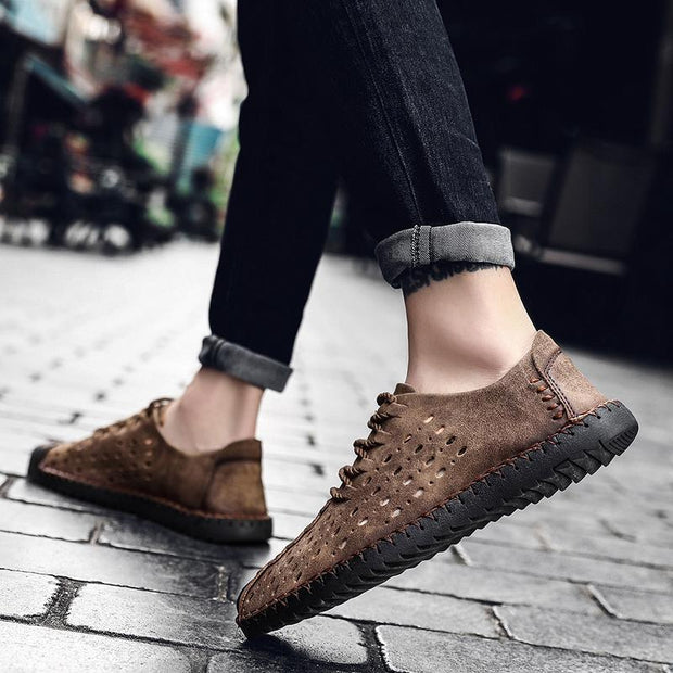 Men's Hollow Breathable Loafers Moccasins