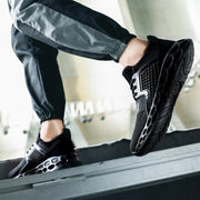 Men Knitted Fabric Lace Up Super Free Sport Casual Sneakers