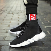 Men's Casual Breathable Sneakers Elastic Stockings High-Top Shoes