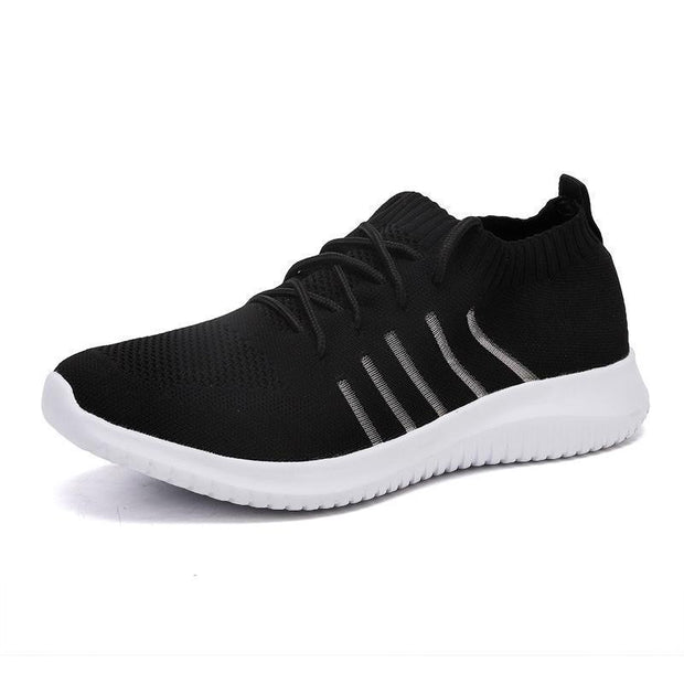 Men's Breathable Woven Lightweight Lace Sneakers