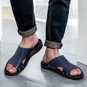 Men's leather slippers