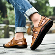 Men's casual trend outdoor handmade shoes waterproof and wearable sandals 125846