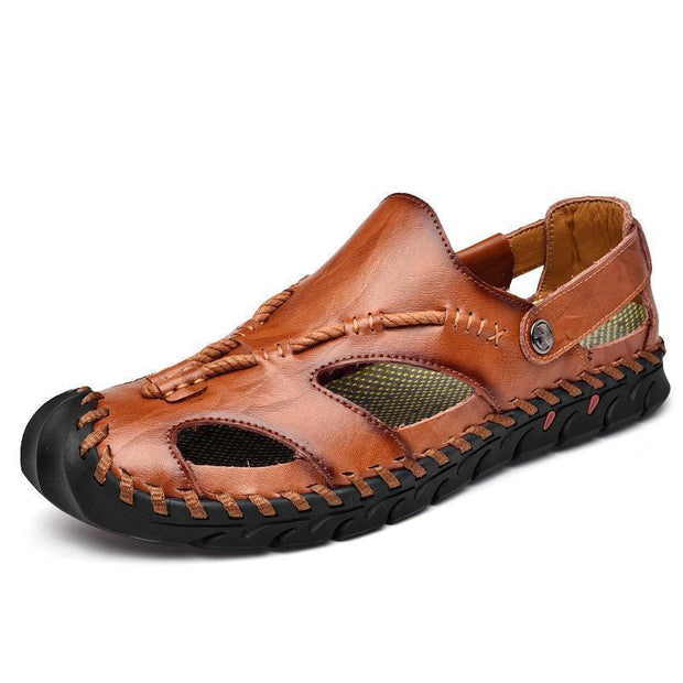 Men's casual trend outdoor hand-stitched non-slip breathable sandals