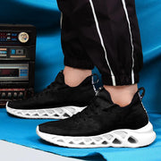 Men's fashion comfortable hollow leopard breathable mesh sneakers 129452