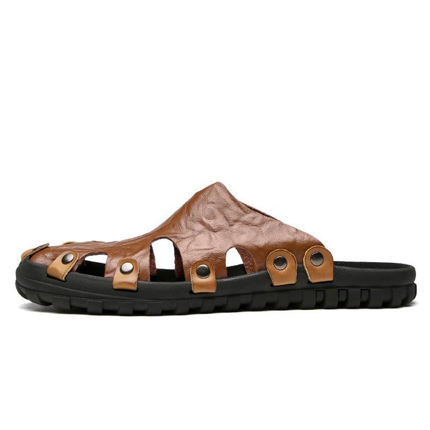 Men's Summer Simple Soft Breathable Sandals and Slippers 132192