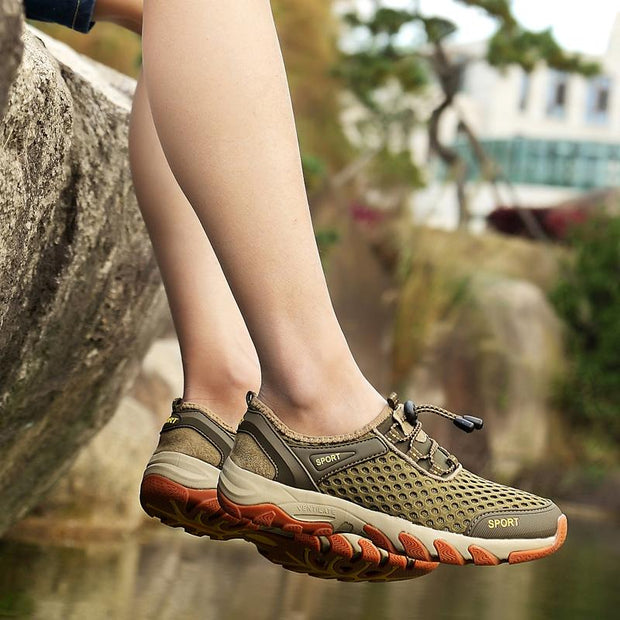 Men's comfortable breathable mesh outdoor recreational traceable shoes sneakers