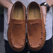 Men's new hollow leather comfortable shoes 133103