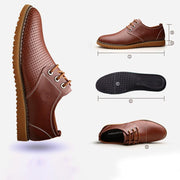 Men's shoes new tide shoes  new men's dress business shoes leather hollow breathable 133346