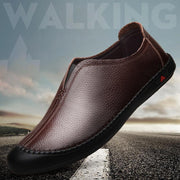 New men's casual shoes trend first layer leather men's shoes wild soft bottom one foot quilting 133358