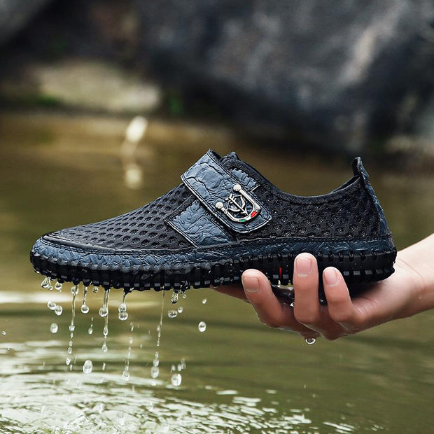 Men's Mesh upstream shoes breathable hollow sandals hole shoes beach