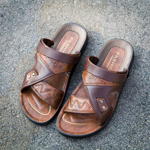 Men's Shoes Summer Beach Dual-use Sandals Slippers 133957