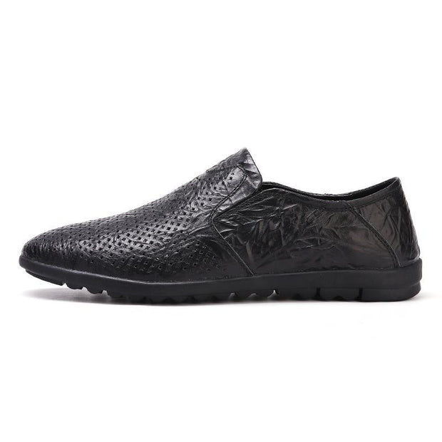 Men's new comfortable leather openwork shoes 134554