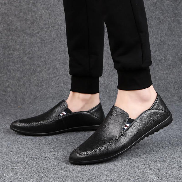 Men's new leather handmade peas shoes 134558