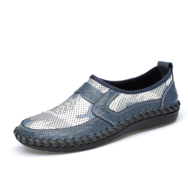 Men's Breathable Mesh Shoes Slip On Casual Shoes Male Lightweight Soft Comfortable Big size 38-46
