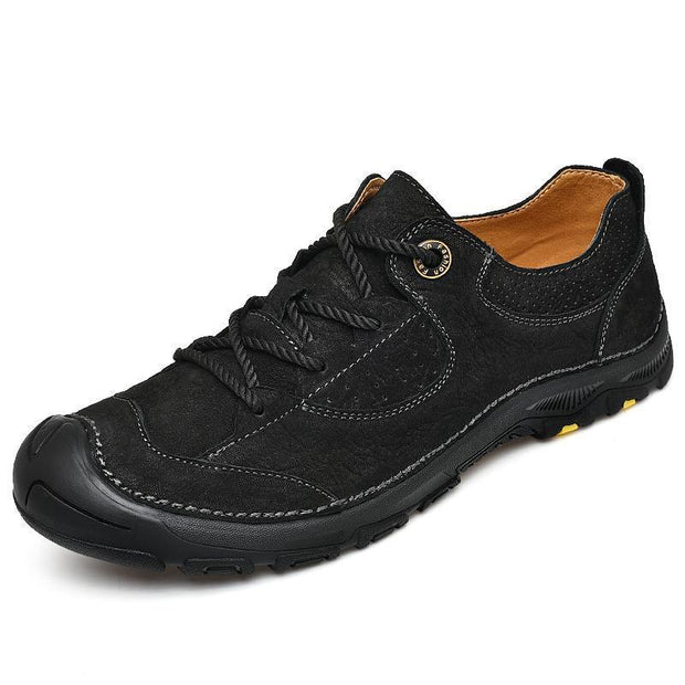 Men's Genuine Leather Handmade Leather Hiking Shoes
