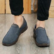 Men's Canvas Comfort Casual Loafers Vintage Walking Sneakers Breathable Boat Shoes
