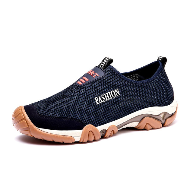 Men's lazy shoes, one-legged mesh shoes, wading casual shoes