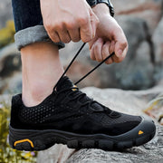 135569 Men's flying woven breathable non-slip soft bottom mesh shoes men's sports hiking shoes