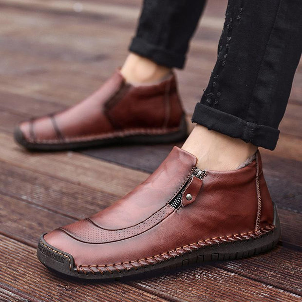 135860 Men of high men's shoes by hand for outdoor leisure shoes boots