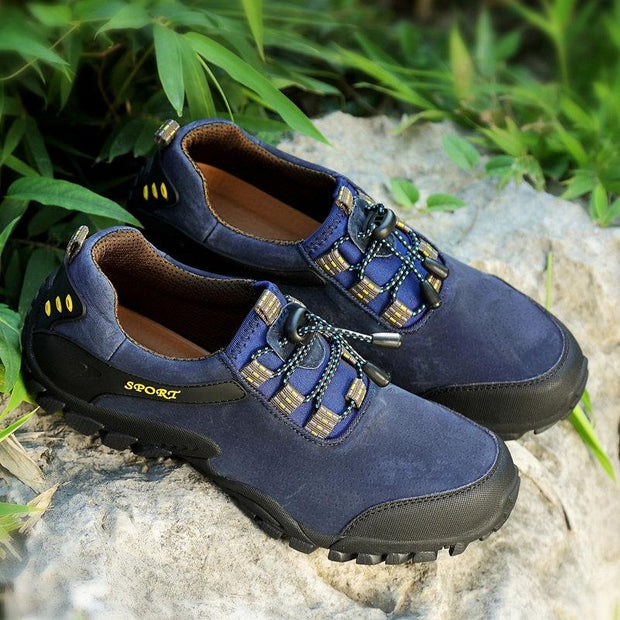 135745 Men Outdoor Anti-collision Non-slip Soft Lace Up Hiking Shoes