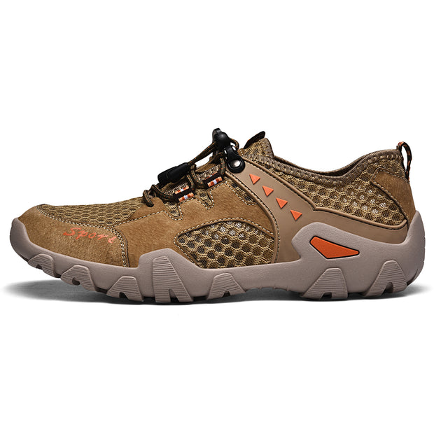 Men's movement big yards men's shoes outdoor climbing shoes breathable mesh surface