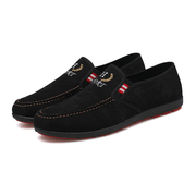 Men's Canvas Loafers Shoes Simple All Match Breathable Low Cut Casual Slip-Ons