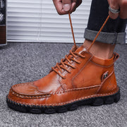 Men's Leather Hand-made Outdoor Ankle Boots
