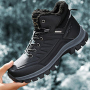 Men's Thickening Plus Velvet Outdoor Non-Slip Boots Shoes