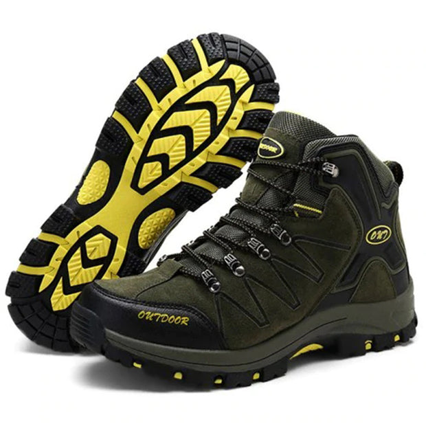 Men Outdoor Durable High-top Anti-slip Hiking Shoes