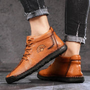 Men's Casual Leather Lace-up Shoes