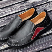 Men's Genuine Leather Plus Size Handmade Stylish Stitching Formal Casual Flats