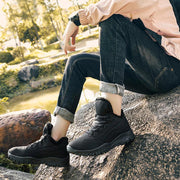 Men's New Warm Suede Cloth Cotton Fabric Plus-Sizes Outdoors Hiking Sneakers