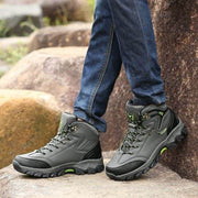 Men's All Seasons Large-Size Leather Outdoor Casual Sports Climbing Sneakers
