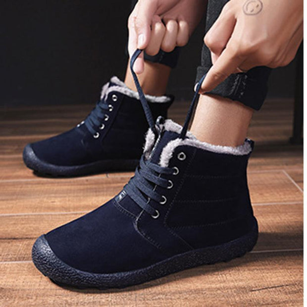 Men's New Plus Velvet Outdoor Casual High-Top Shoes