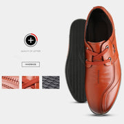 Men's New Leather Soft Face Layer Cow Soft Bottom Lace-Up Shoes