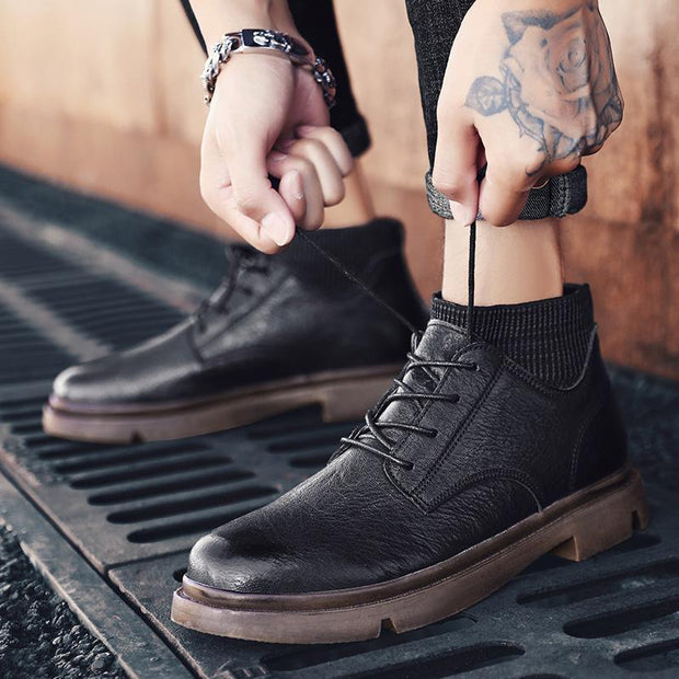 Men's New Handsome High Anti-Skid Tooling High-Top Shoes