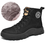 Men's Winter Warm Genuine Leather Cotton Korean Style Trend Outdoor Boots