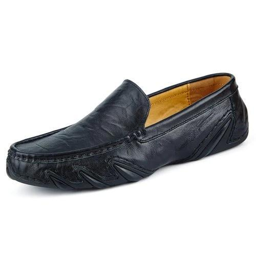 Men's Genuine Leather Loafers Casual Hollow Casual Shoes