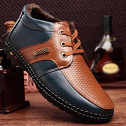 Men's Split Leather Boots Outdoor Men Boots For Snow Dress Boots Ankle Boots